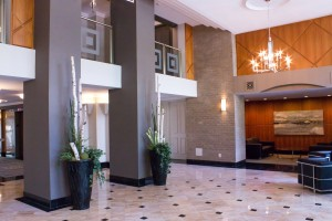 Lobby renovation recently completed in Burlington